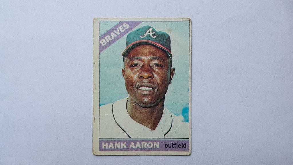 1966 topps hank aaron single baseball card baseball