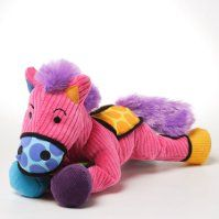 """""""Frida"""" the Pony Stuffed horse ages 0+. Lots of textures and colors"""
