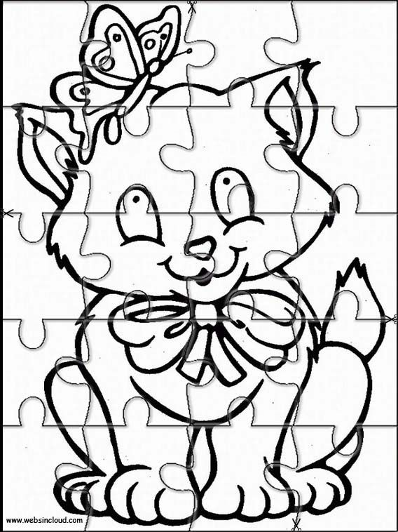 Printable jigsaw puzzles to cut out for kids Animals 21 Coloring