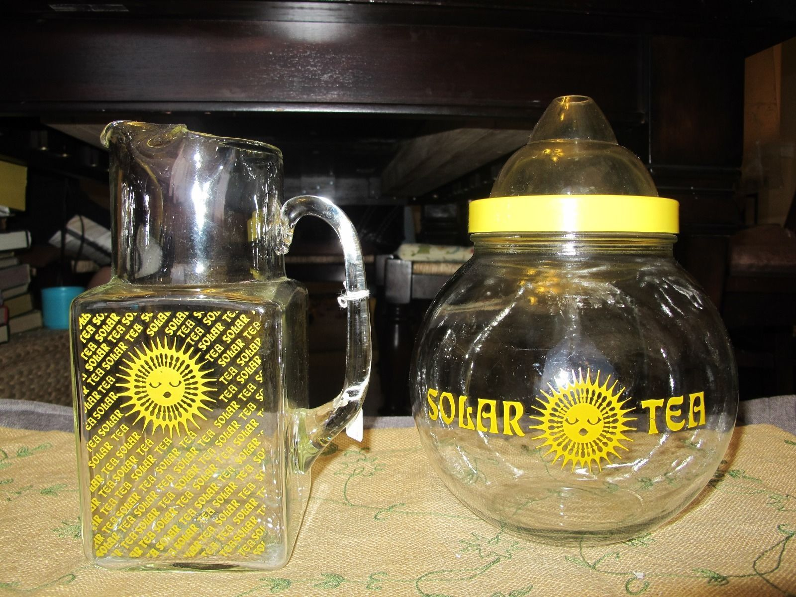 Vintage Glass Ball Solar Tea Sun Tea Jar 1 Gallon And Pitcher Sun Tea Jar Glass Ball Sun Tea