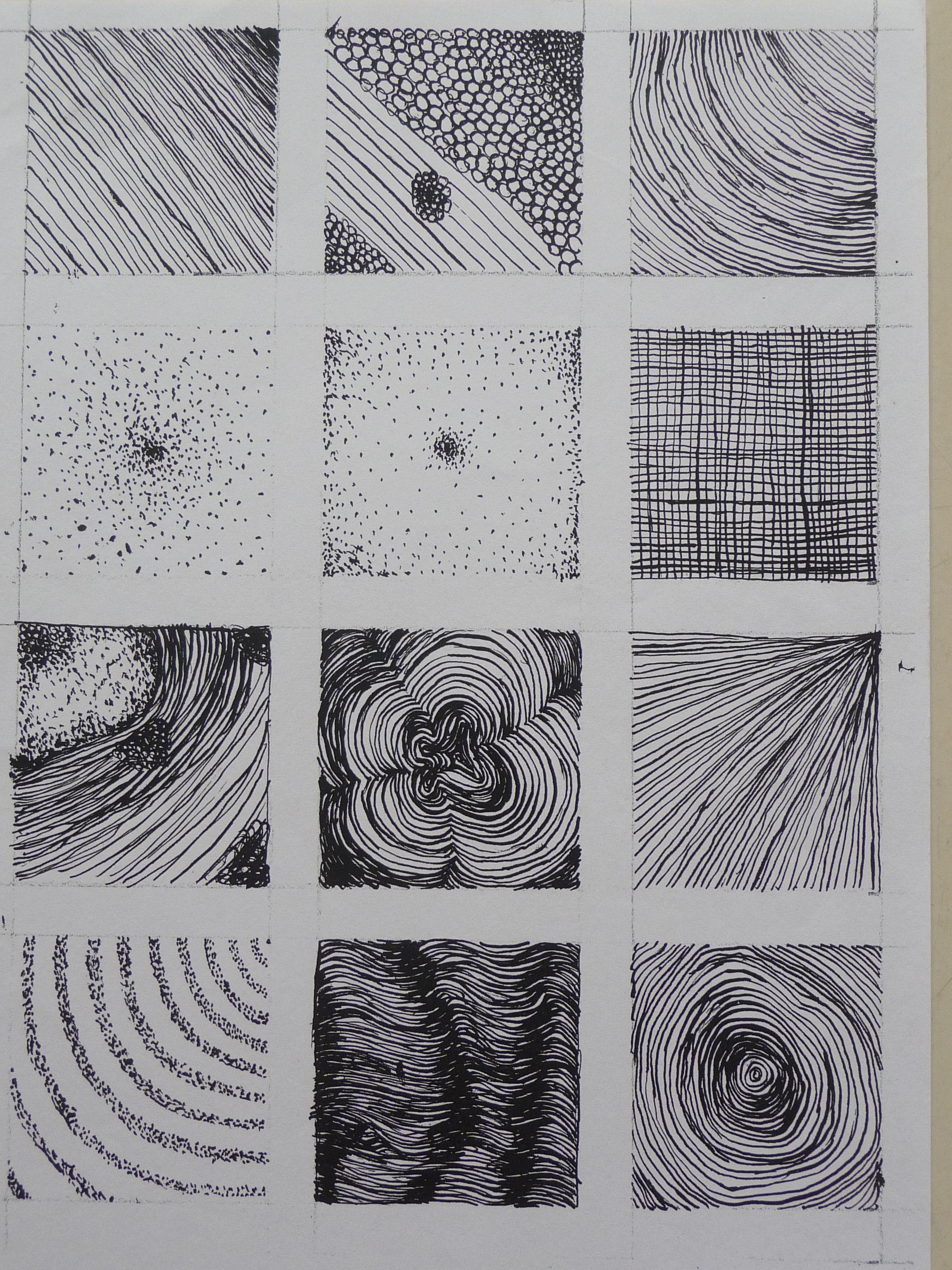 Structuren Met Pen En Inkt Arceren En Pointilleren