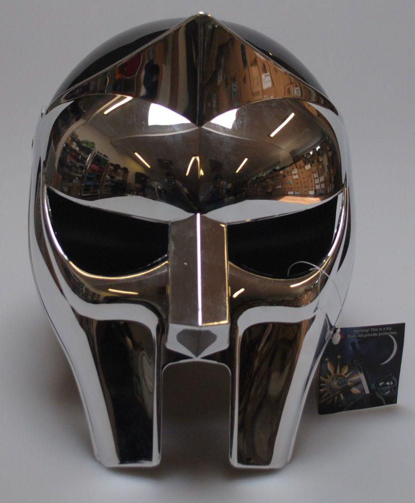MF Doom Gladiator Mask Helmet Reflective Plastic Chrome Prop