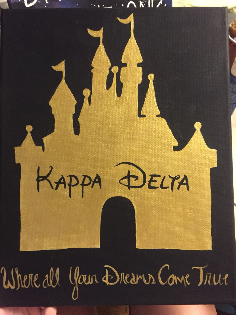 Kappa delta sorority canvas Disney castle | K Δ | Pinterest | Kappa ...