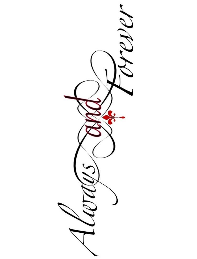 Always And Forever Tattoo : always, forever, tattoo, Lulu.lucka, Originals, ⚜️, Forever, Tattoo,, Originals,, Vampire, Diaries