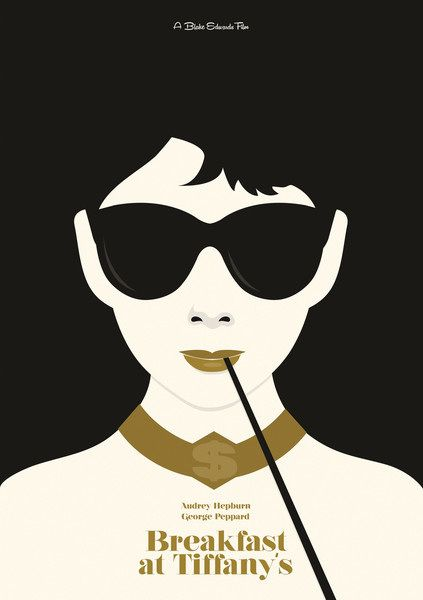 417e3eb426 Audrey Hepburn Minimal Movie Poster by Matt Needle (Breakfast At Tiffanys)