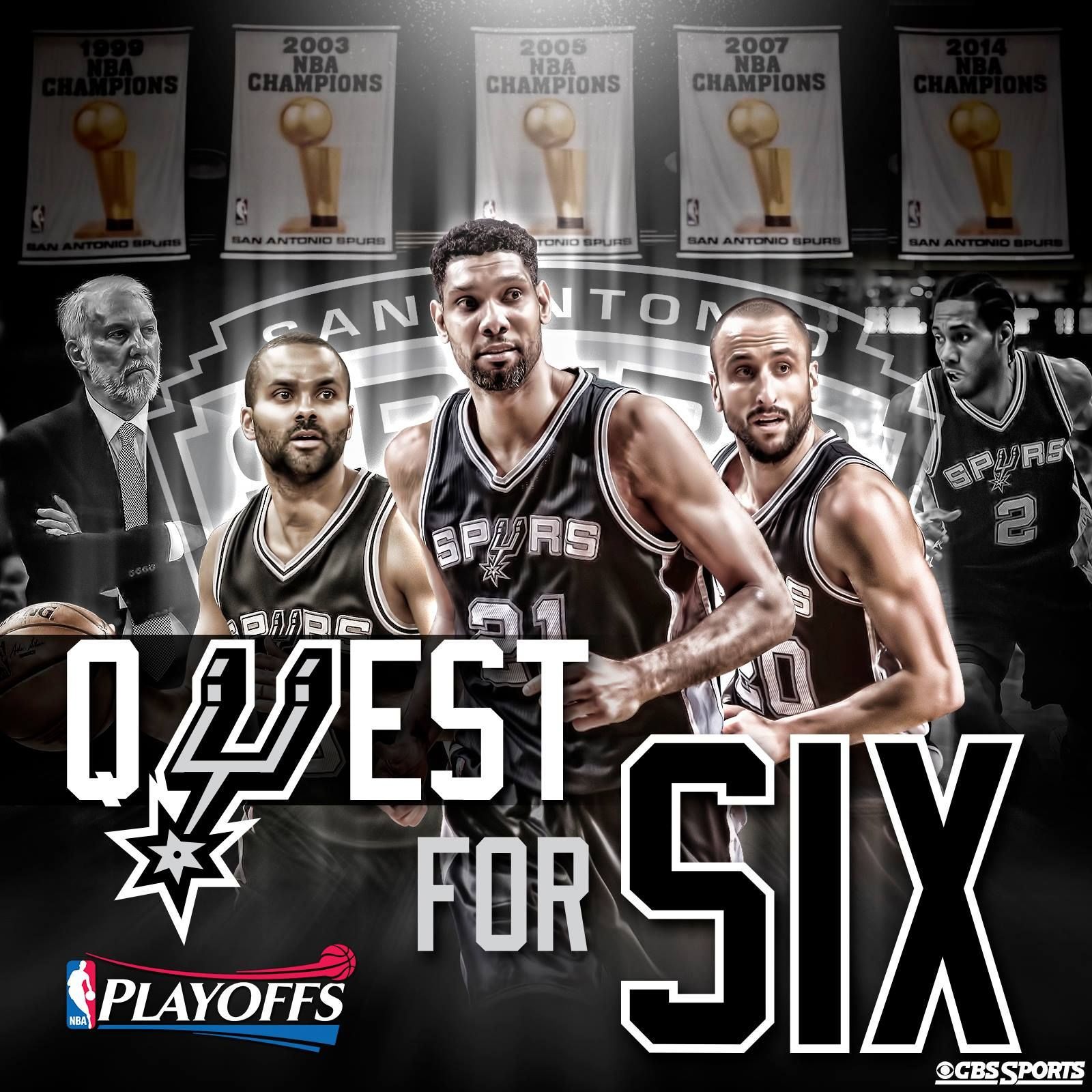Quest for Six starts tonight April 19 2015. Go Spurs Go