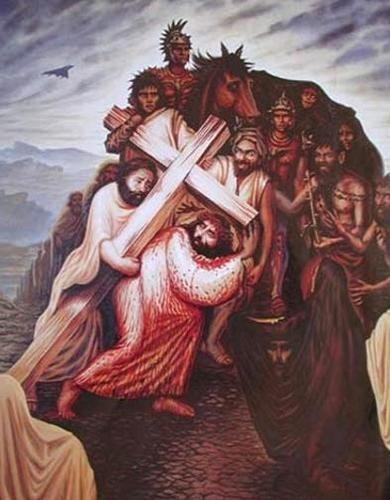 Jesus Christ Art Work Fondo De Pantalla Probably Containing Comic Book In The Jesus Club Art Optical Illusion Paintings Illusion Paintings
