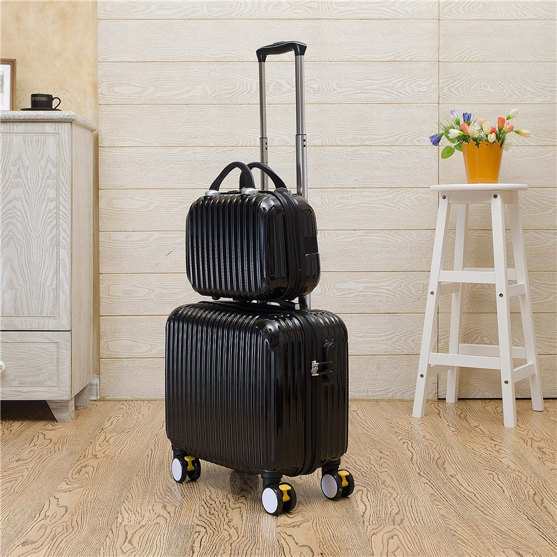 111.70$  Watch more here  - Wholesale!16inch pc trolley luggage with cosmetic box(2pieces/set),fashion candy color trolley luggage set with cup shelf