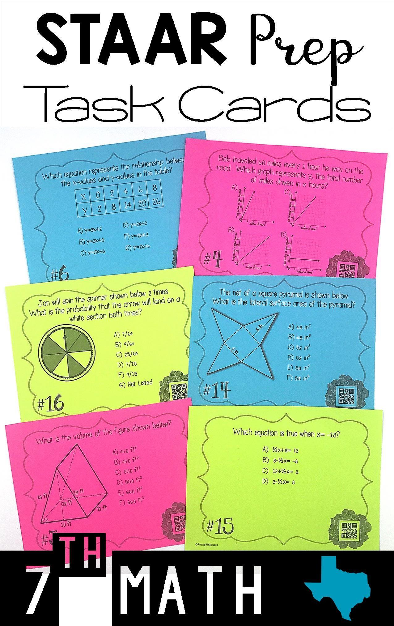 7th Grade Math Staar Review Amp Prep