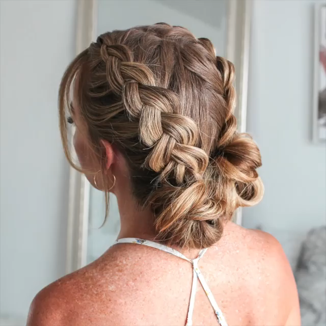 Double Dutch Braid Mini Buns