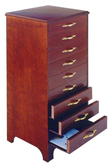 Music Storage Cabinet (9-Drawer Cabinet-Mahogany) | J.W. Pepper ...