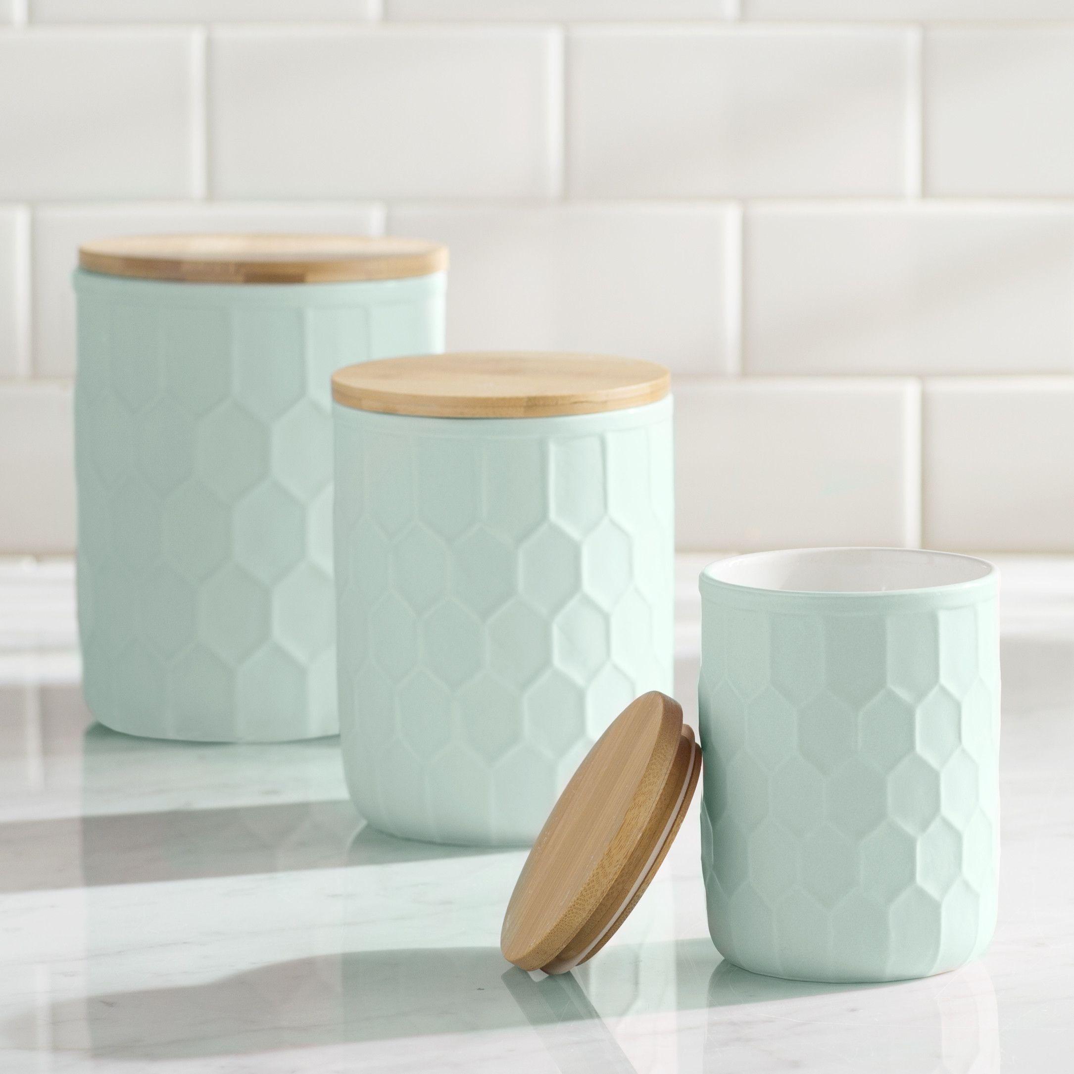 Scandinavian 3 Piece Kitchen Canister Set | kitchen | Pinterest ...