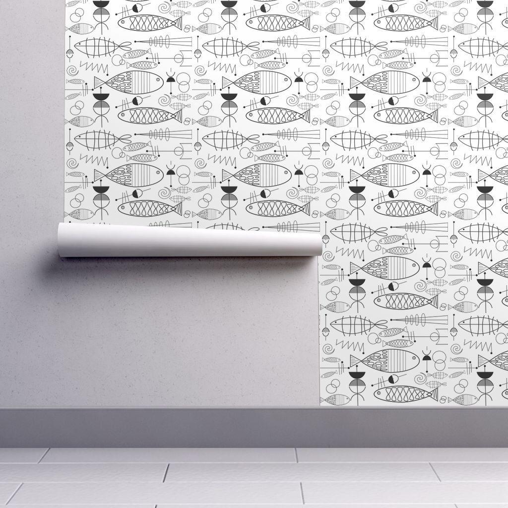 Mid Century Mod Wallpaper Mcm Fish By Hot4tees Bg Yahoo Com
