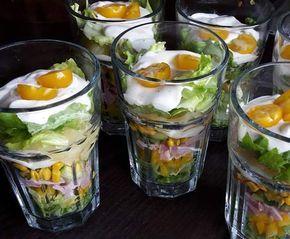 Kleiner Sommerschichtsalat Rezept Party Pinterest Salat