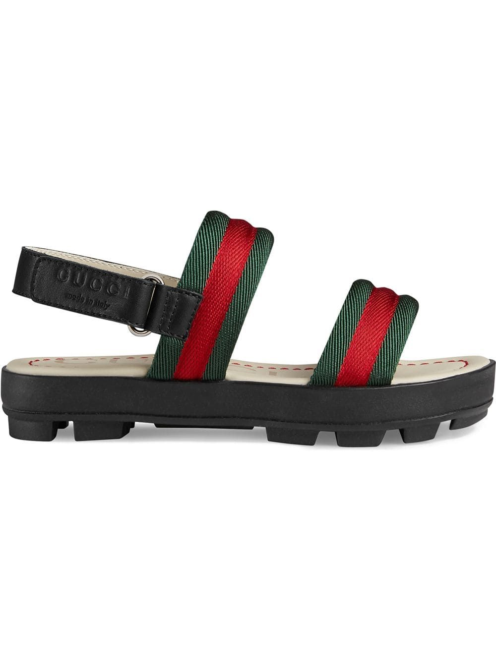 96ade3192 Gucci Kids Children's leather and Web sandal - Black in 2019 ...