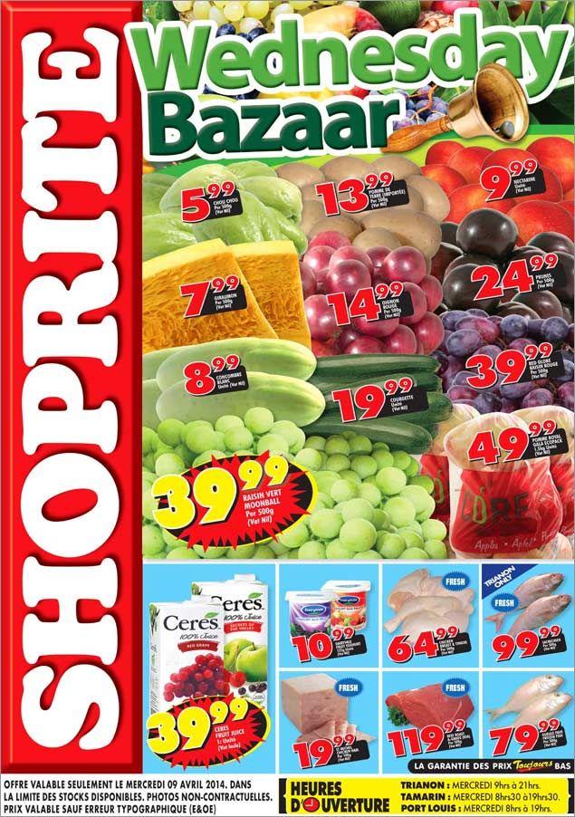 SHOPRITE Hyper Wednesday Bazaar: Trianon - Tamarin - Port Louis ! 09 Avril 2014