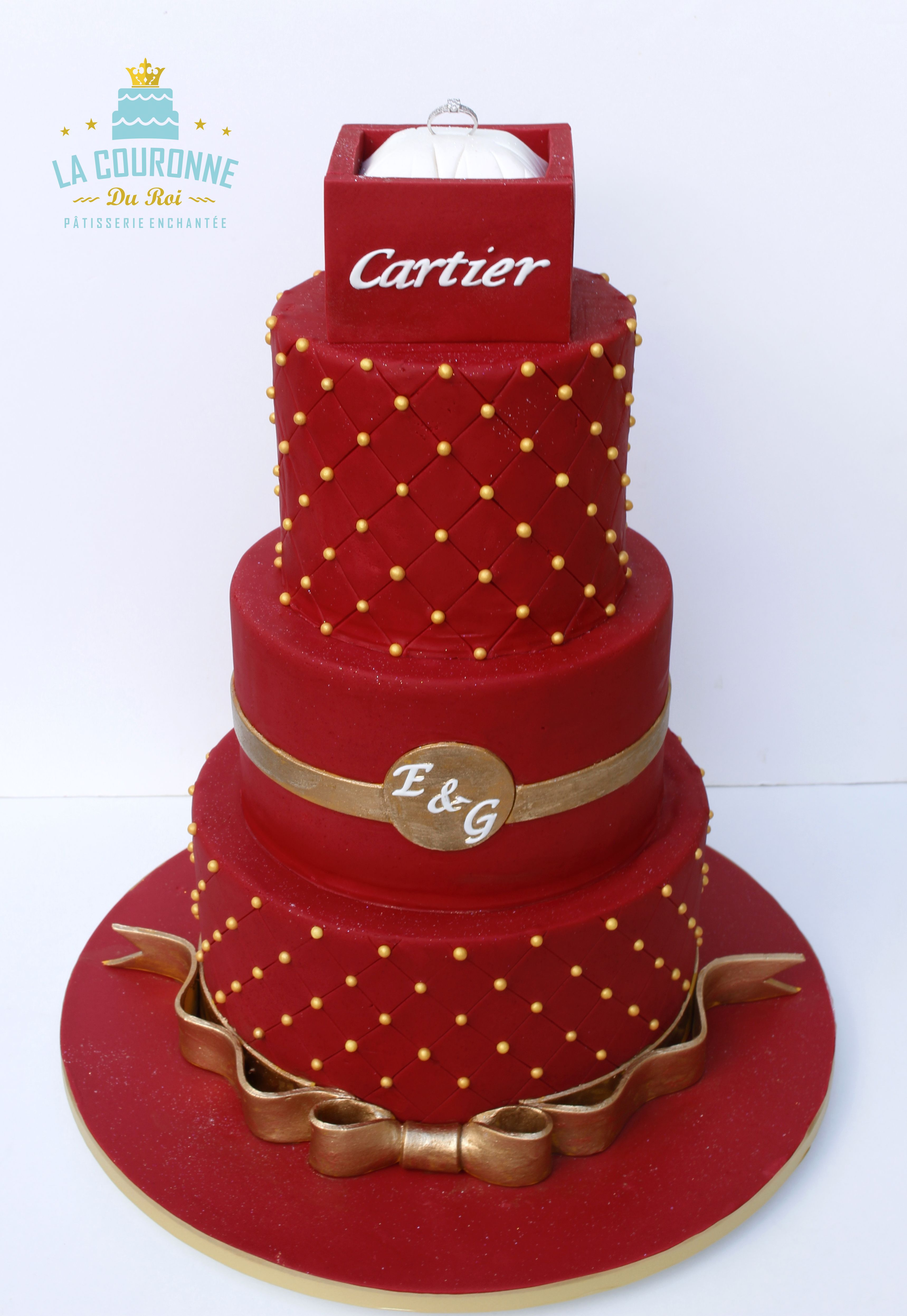 Wedding Cake Cartier Ring Bizcocho Pinterest Wedding Cake