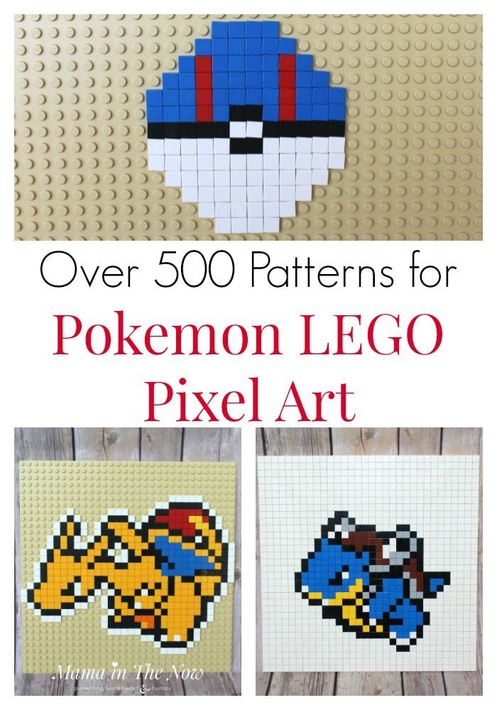 Over 500 of the Best Pokemon Pixel Art | Lego building, Lego and ...