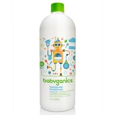 Babyganics 32 Oz Fragrance Free Foaming Dish Balls Foaming