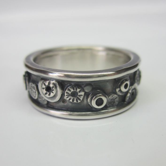 Honeybourne Jewellery Men S Wedding Ring Nuts And Bolts Oxidised Solid Silver Poa