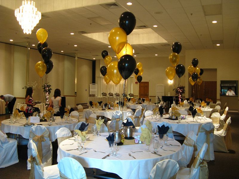 Black and gold graduation party graduation party the Table decoration ideas for parties