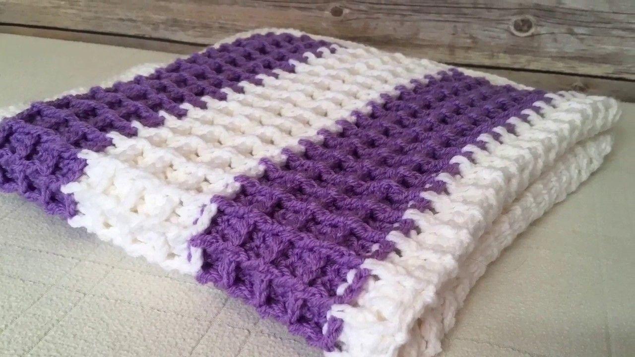 Lamplight Crochet Tutorial 27 Waffle Stitch Baby Blanket Youtube In 2020 Crochet Patterns Free Blanket Slip Stitch Crochet Easy Crochet Baby Blanket