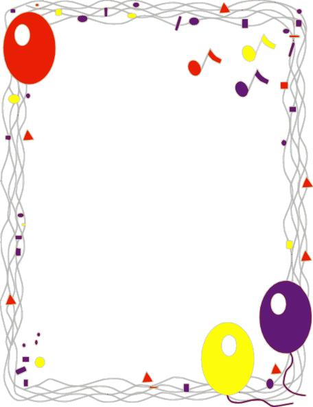 Free Decorative Borders   Balloon Border clip art - vector clip ...