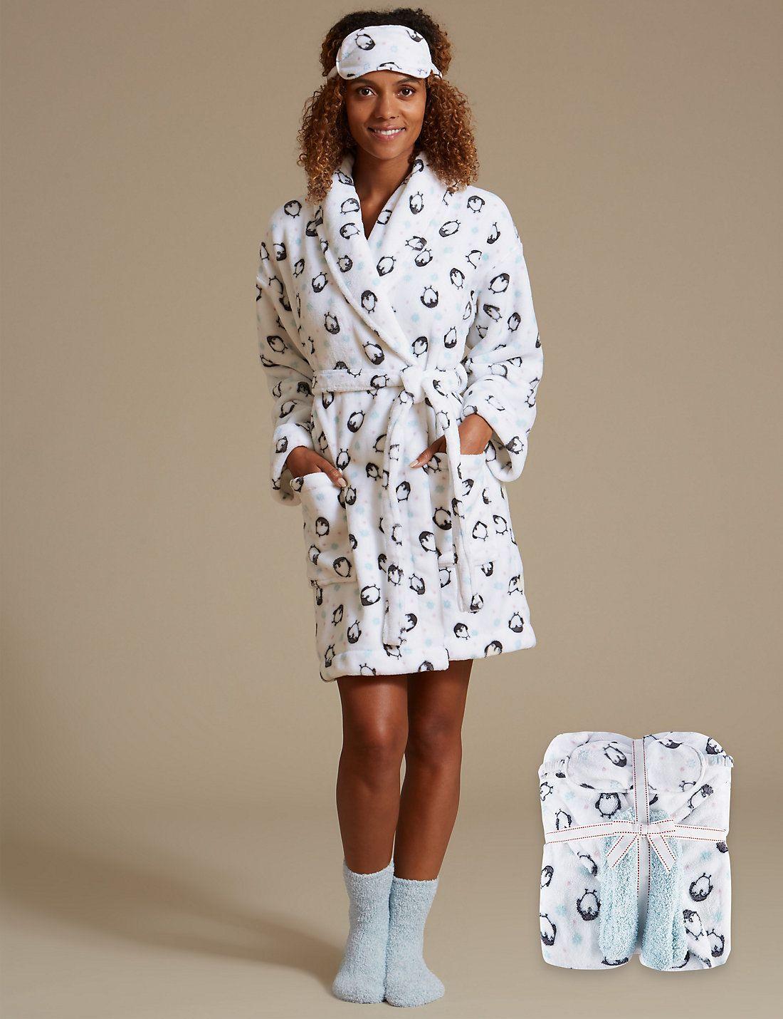 Long Sleeve Dressing Gown Set   AW LADIES NIGHTWEAR   Pinterest ...