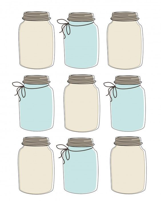 Vibrant image regarding free printable mason jar template