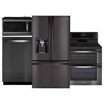 Kenmore Elite Black Stainless Steel Kitchen Package Kitchen Appliance Packages Black Stainless Steel Kitchen Samsung Kitchen
