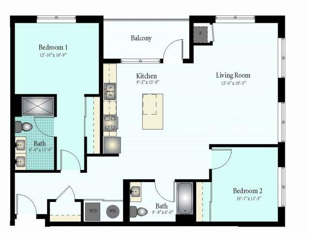 2 Bedroom Apartment Floor Plans Di 2020