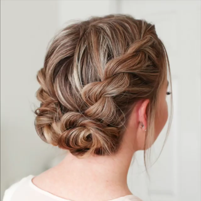 Double Twist Low Buns Video Hair Styles Braided Hairstyles Long Hair Styles
