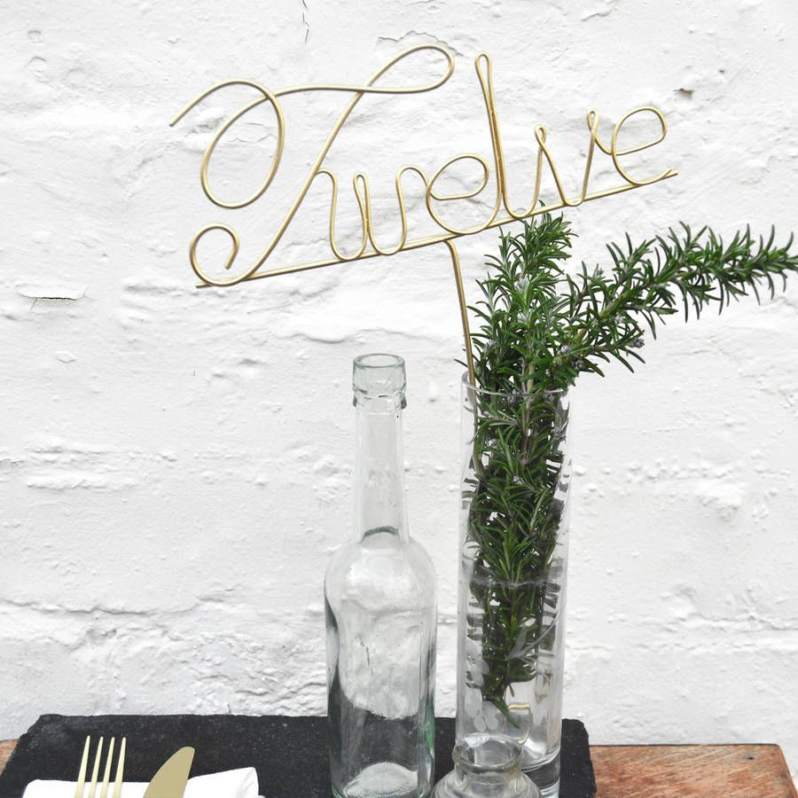 Deluxe copper wedding table numbers table numbers number and deluxe copper wedding table numbers greentooth Gallery