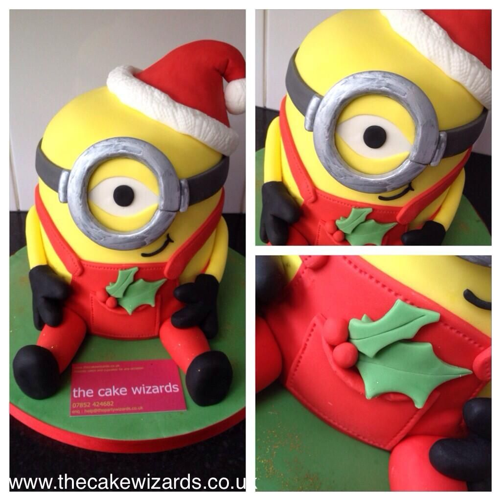 The Cake Wizards @kellyemmaellis Christmas minion cake. Really cute