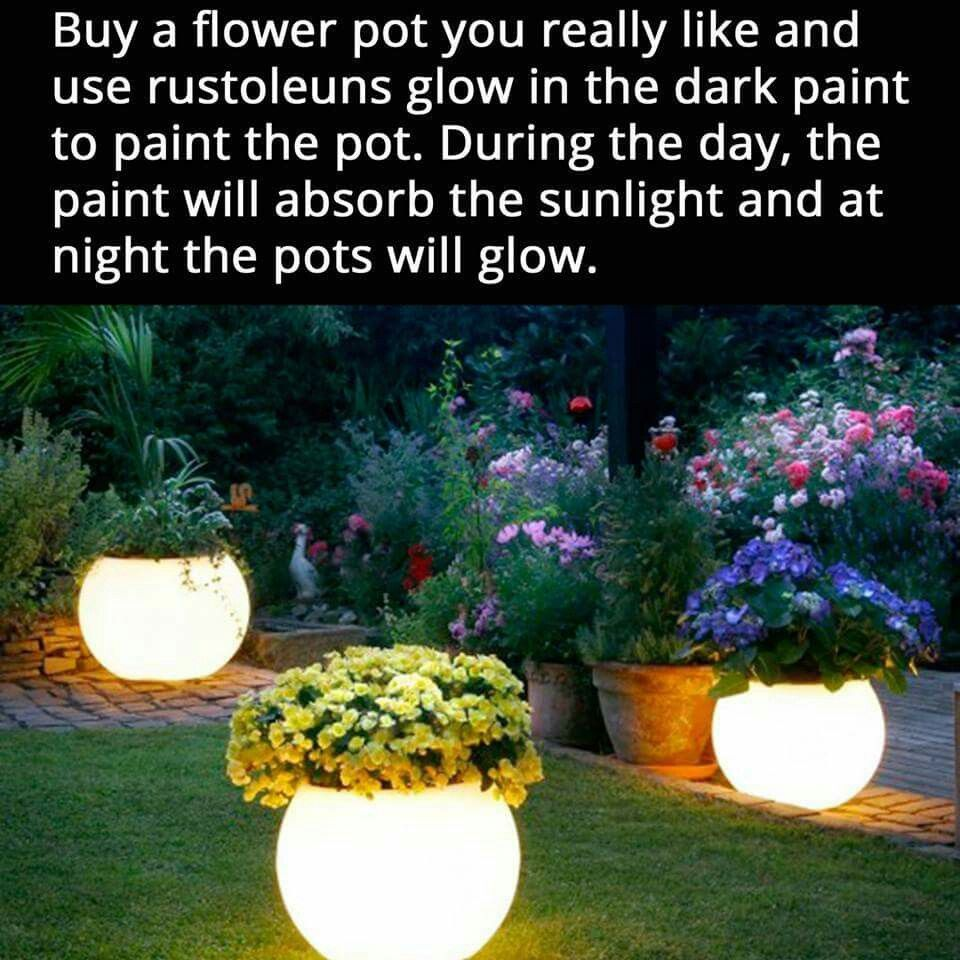 Night light flower pots perfect for a magical fairy garden.  sc 1 st  Pinterest & Night light flower pots perfect for a magical fairy garden. | Fairy ...