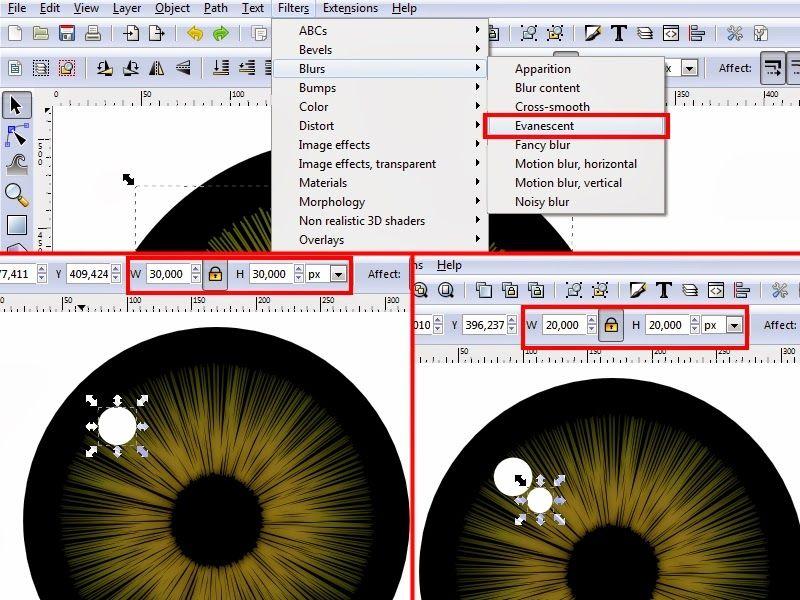 Inkscape Design Realistic Eye Tutorial Inkscape Tutorials