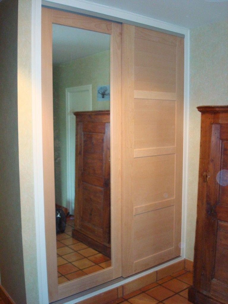 Dressing Apres Porte Bois Hetre Une Porte Miroir Et Une Porte A 4