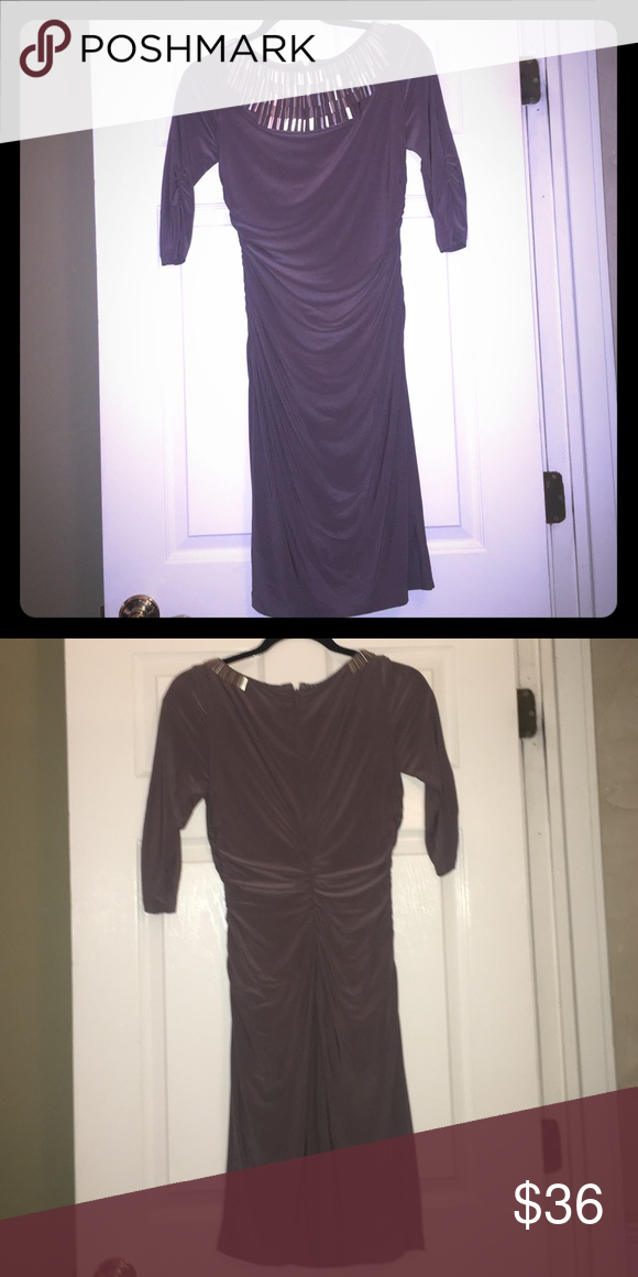 Dress Great guest of or event dress! Jersey long sleeve with embellished neckline! Adrianna Papell Dresses Wedding