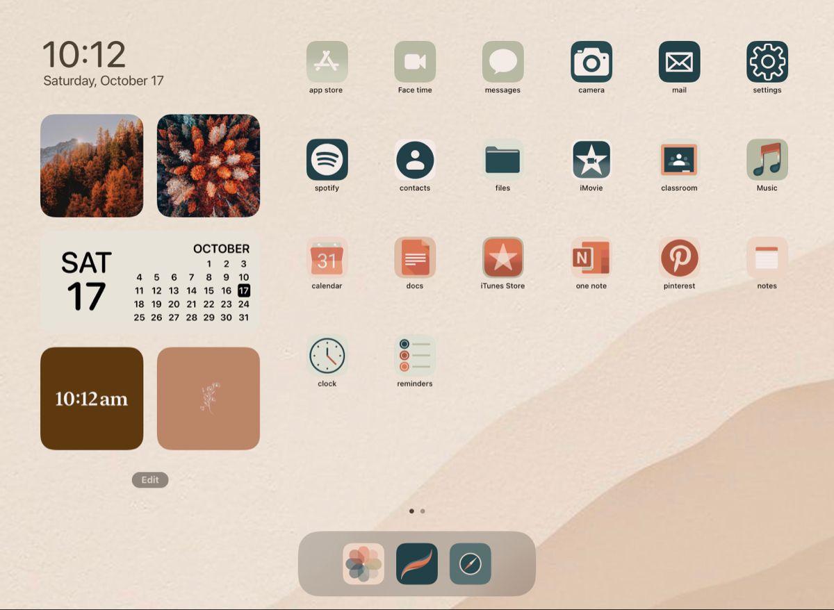 Ipad Ios 14 Aesthetic Ipad Ios Iphone Wallpaper App Homescreen Iphone