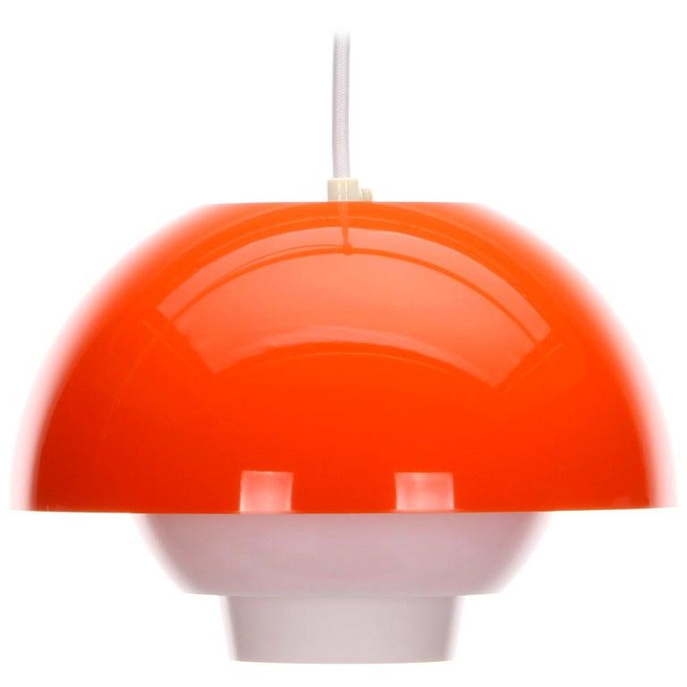 Bent Karlby Chandelier Pendant Ergo Plexiglas Lamp Ask Belysning 1971 Danish Scandinavi With Images White Pendant Lamp Ceiling Lamp White Blown Glass Pendant