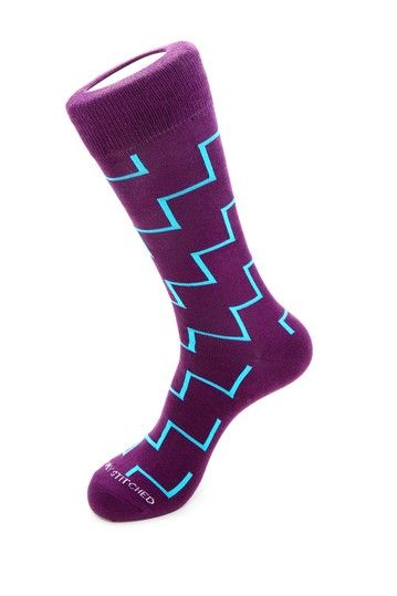 Zigzag Socks by Let's Have Sox on @HauteLook