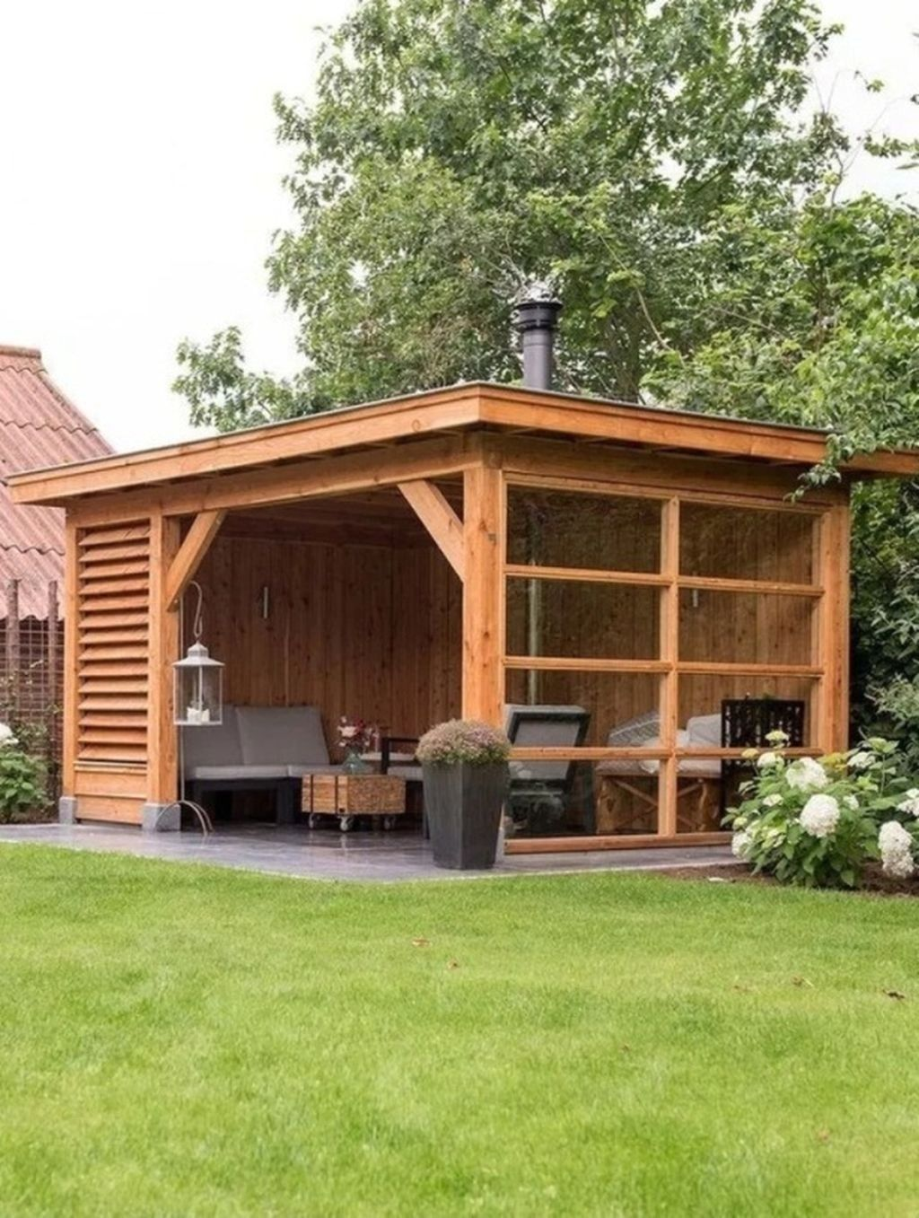78 Luxury Backyard Storage Shed Design Ideas Backyardstorage Backyard Backyardstorage Design Ideas Lux In 2020 Holzhutte Garten Uberdachung Garten Garten Pavillon