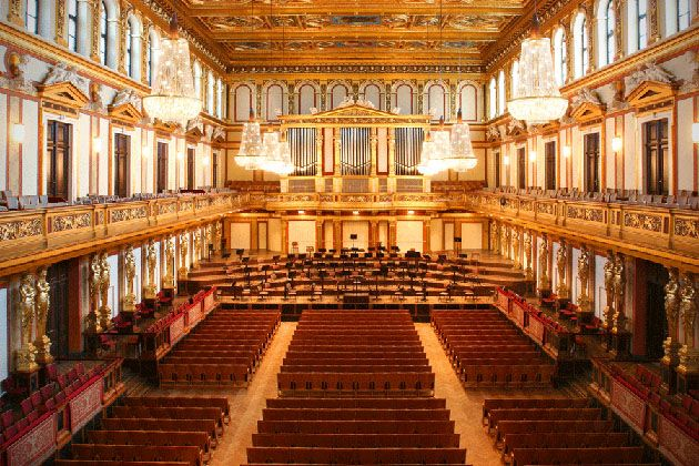 These Are The 14 Coolest Concert Halls From Around The World Musikverein Golden Hall Concert Hall