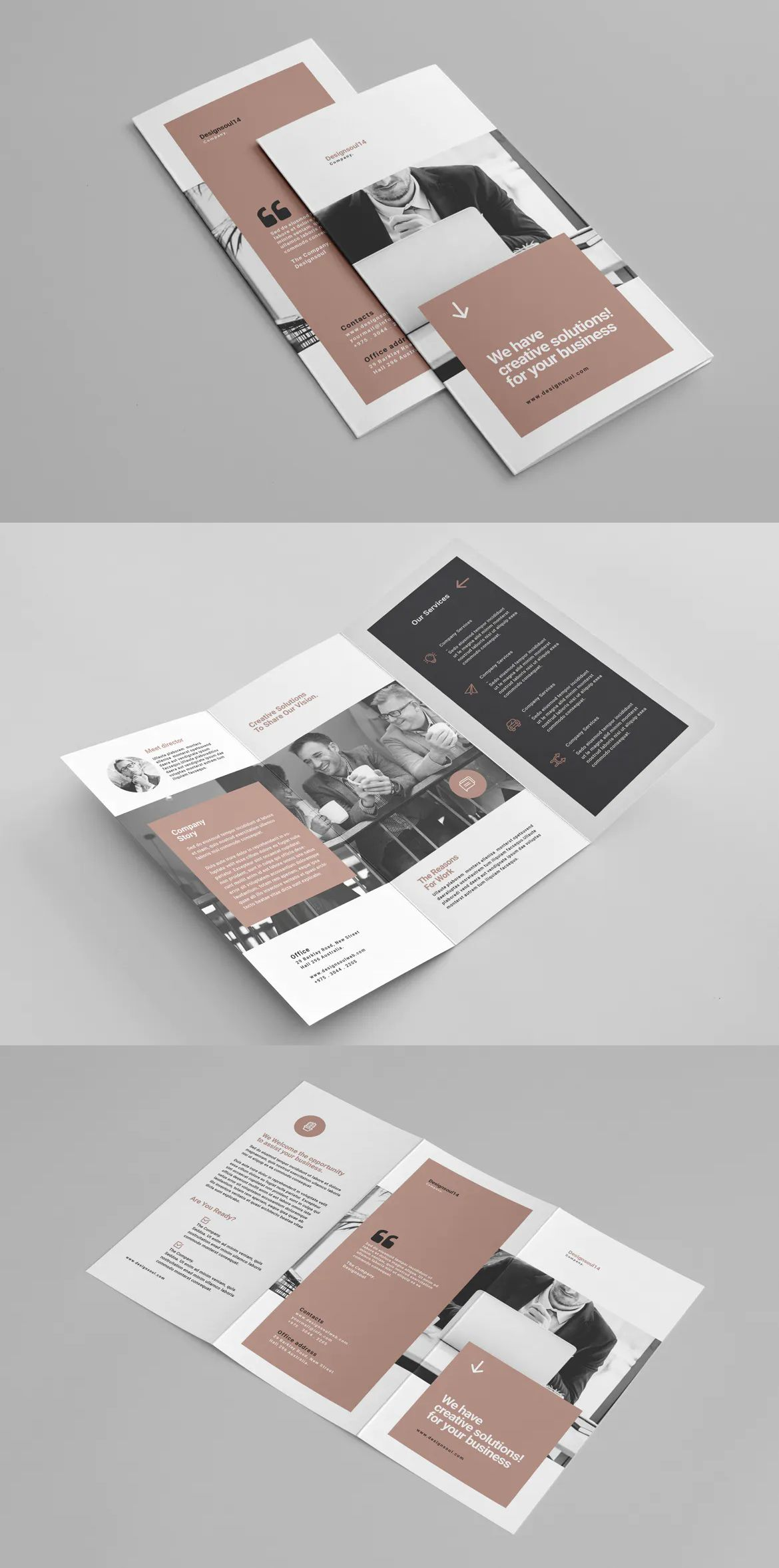 Trifold Brochure Template Indesign In 2020 Trifold Brochure Template Trifold Brochure Design Trifold Brochure