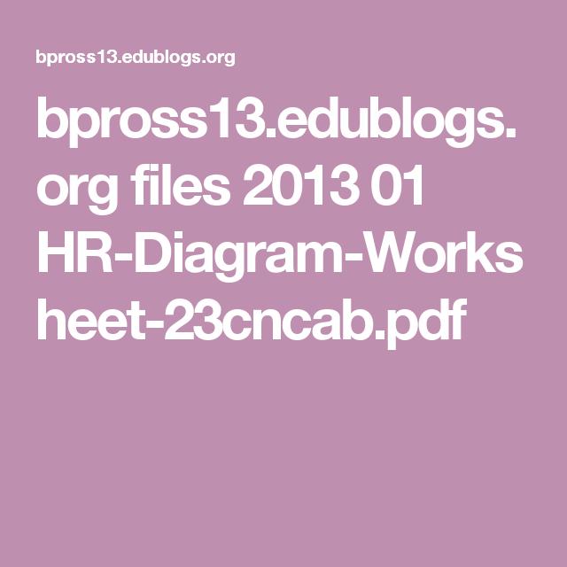 H R Diagram Worksheet Pdf Kidz Activities