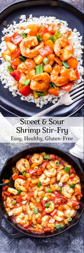Sweet and Sour Shrimp Stir-Fry - Recipe Runner #stirfryshrimp