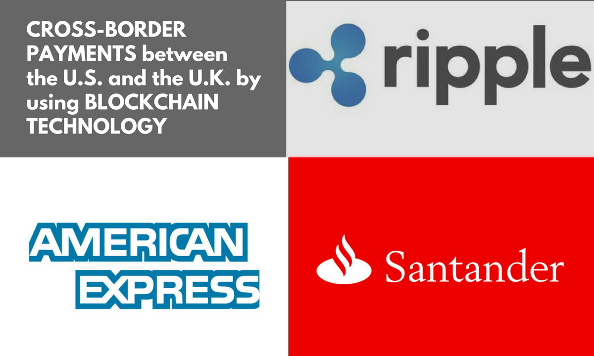 American Express Amex And Santander Have Teamed Up With Ripple To Sd Cross Border Payments Between The U S K Via Blockchain Technology
