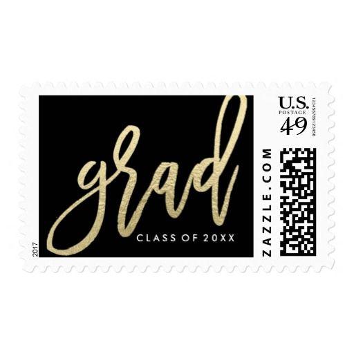 Chic Gold | Graduation Postage