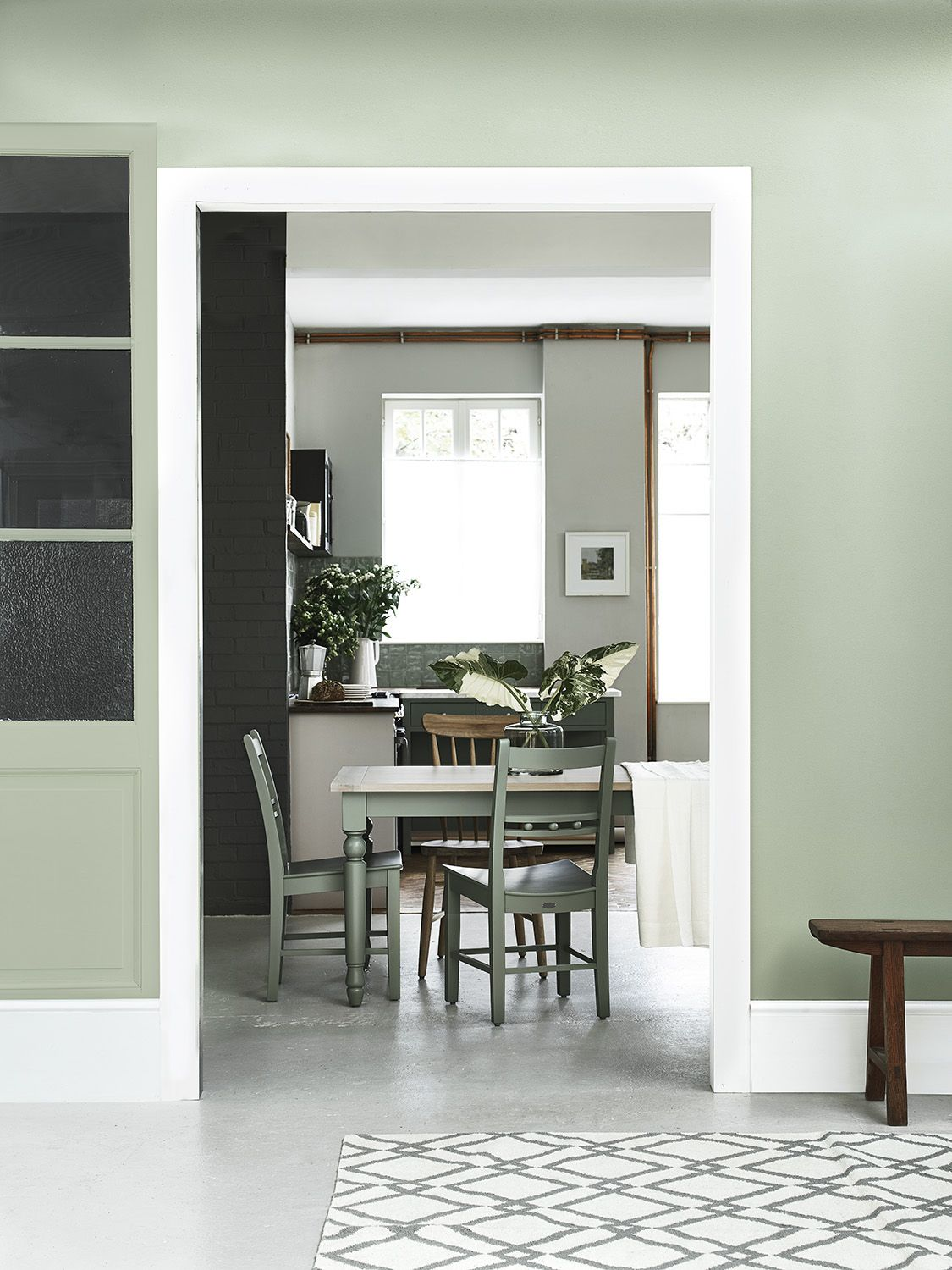 Suffolk Dining Table Hand Painted In Sage Green Walls We Interiors