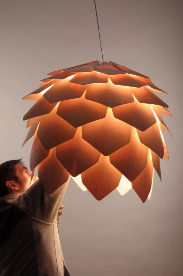 Lamp Design Crimean Pinecone by Pavel Eekra